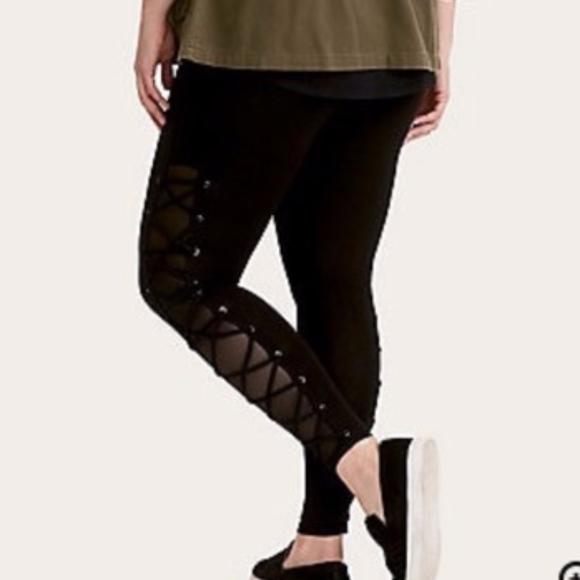 6fd55cc970982 torrid Pants | Nwt Mesh Lace Up Leggings 00 | Poshmark